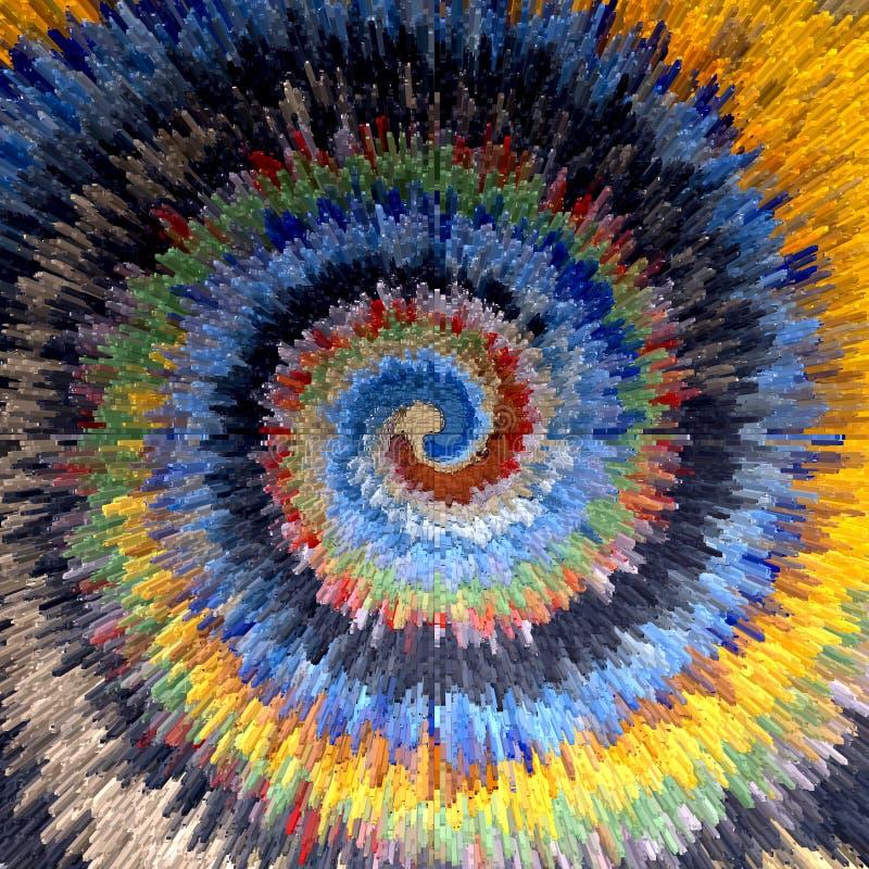 abstrakt vektor för spiral för bakgrundsillustrationrörelse Flerfärgad texturerad bakgrund royaltyfri illustrationer