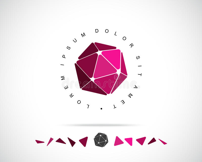 Abstrakt vektor Logo Design Template stock illustrationer