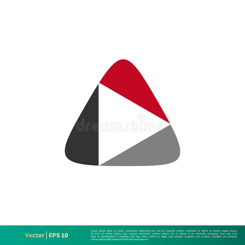 Abstrakt vektor Logo Template Illustration Design för lekknappsymbol Vektor EPS 10 stock illustrationer