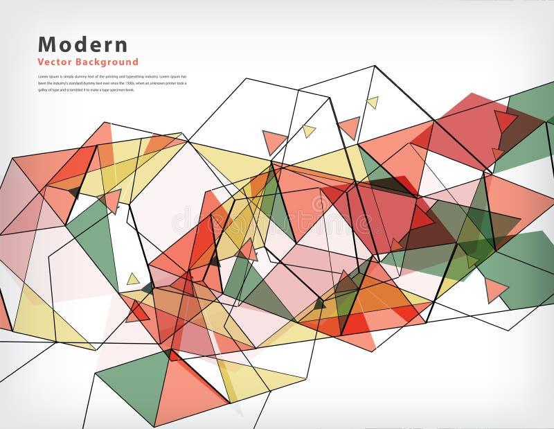 Abstrakt vektorbakgrund av triangelbegreppet stock illustrationer