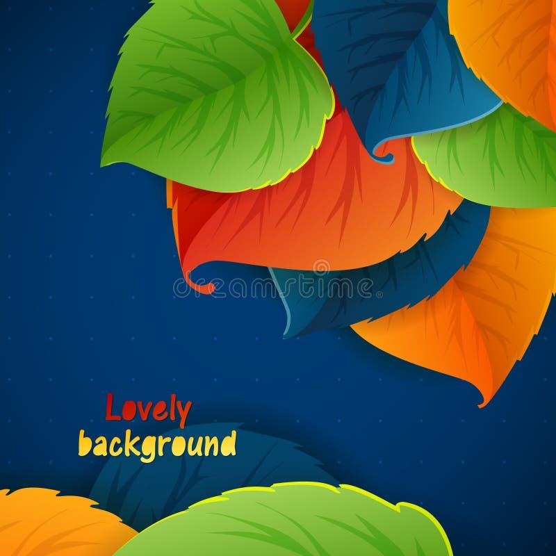 Abstrakt vektorbakgrund för höst Orange leaves stock illustrationer