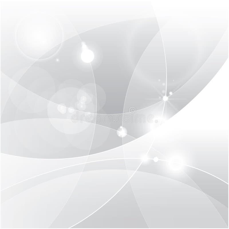 Abstrakt vektorbakgrund för silver vektor illustrationer