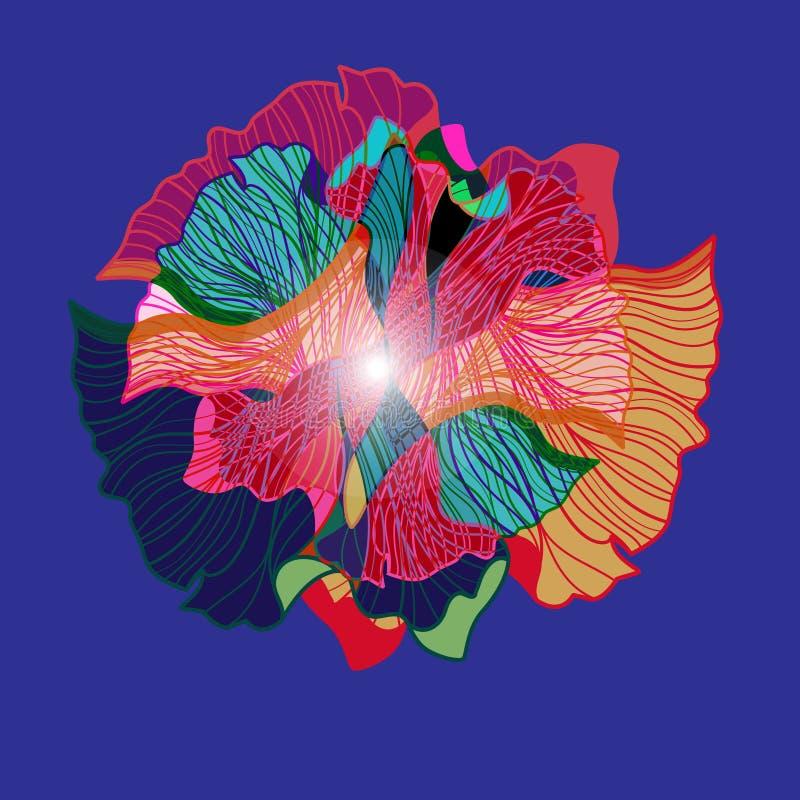 Abstrakt vektorbakgrund med olika best?ndsdelar royaltyfri illustrationer