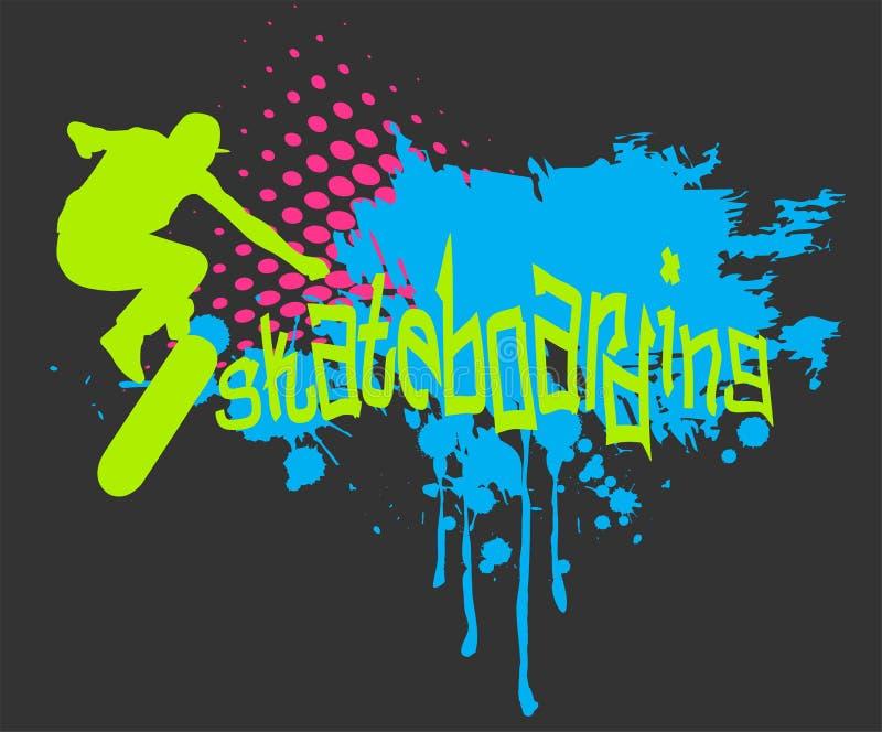 Skateboarding vektor illustrationer