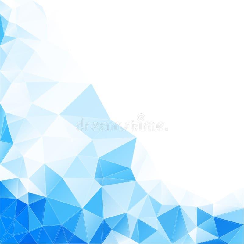 Abstrakt vektorbakgrund med trianglar och royaltyfri illustrationer
