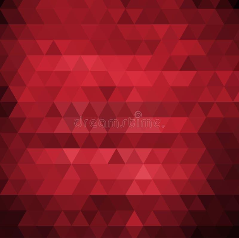 Abstrakt vektorbakgrund med trianglar Röd geometrisk vektorillustration stock illustrationer