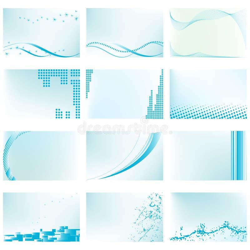 Abstrakt vektorbakgrundsmallar royaltyfri illustrationer