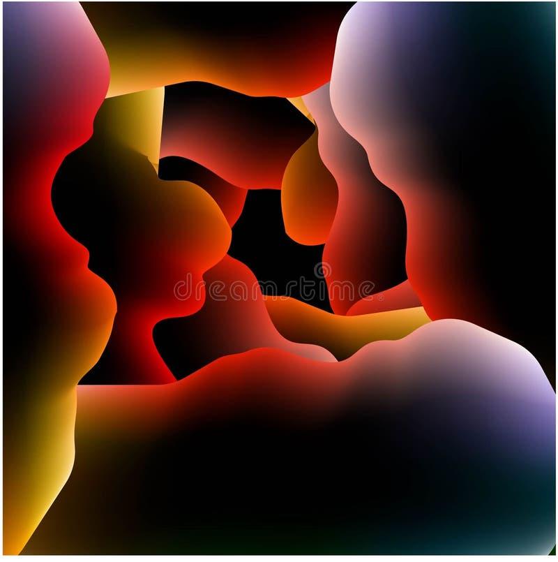 Abstrakt vektorbild av färgvågorna på grå bakgrund vektor illustrationer