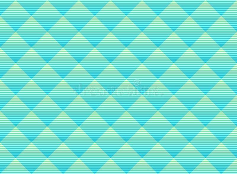 Abstrakt vektorgräsplan och blå subtil gallermodellbakgrund Vibrerande färgspaljé för modern stil Geometriskt raster f?r repetiti royaltyfri illustrationer