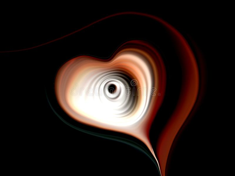 Abstrakt vektorhjärta med mångfärgad skuggad krabb bakgrund med belysningeffekt och textur, vektorillustration royaltyfri illustrationer