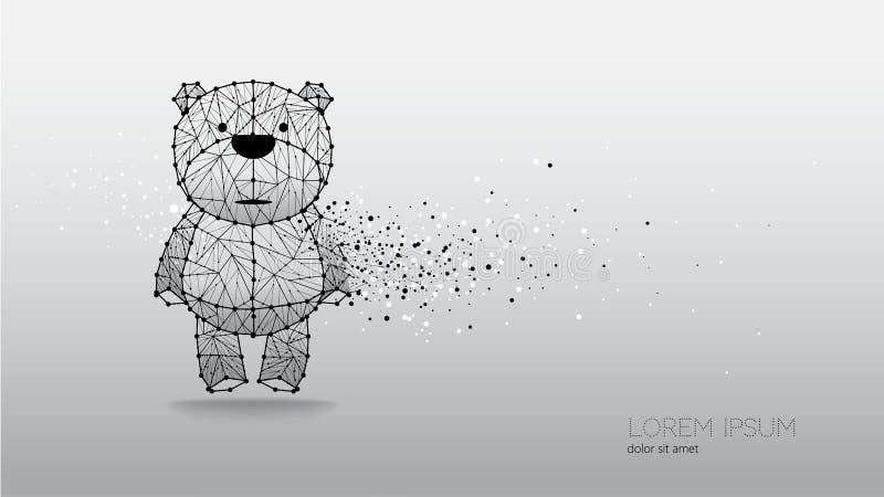 Abstrakt vektorillustration av björnen royaltyfri illustrationer