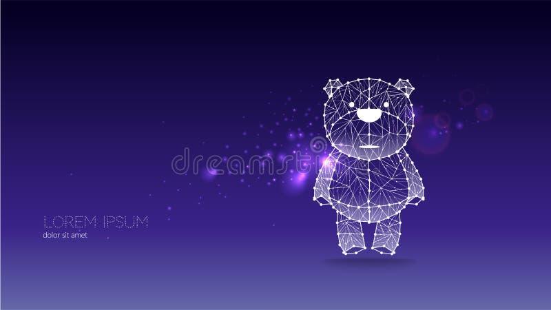 Abstrakt vektorillustration av björnen stock illustrationer