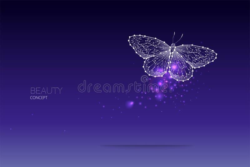 Abstrakt vektorillustration av fjärilsflyttningen stock illustrationer
