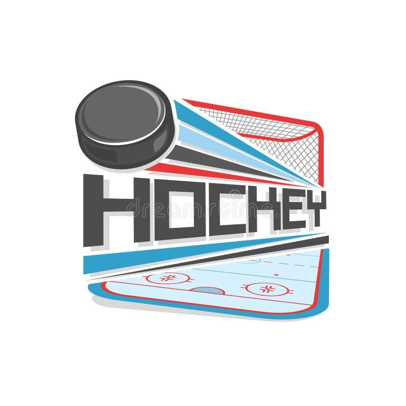 Abstrakt vektorillustration för logo av ishockey royaltyfri illustrationer