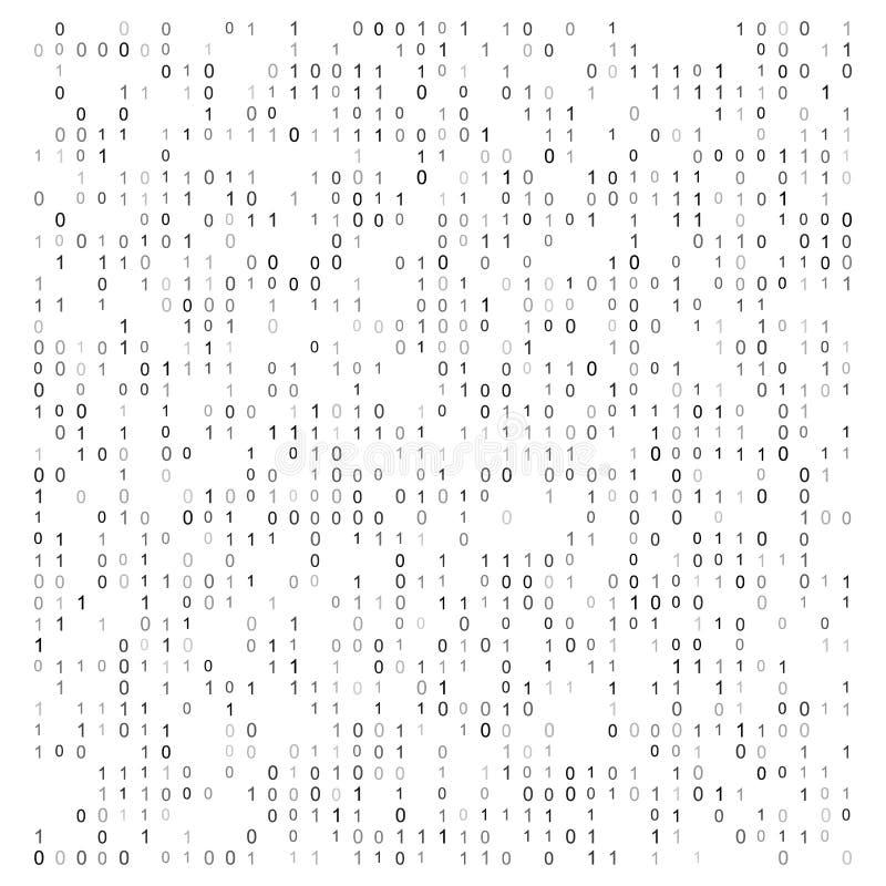 Abstrakt vektorillustration med binär kod Digital teknologisk textur vektor illustrationer
