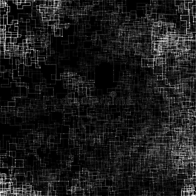 Abstrakt vektorillustration som göras i generativ konststil vektor illustrationer