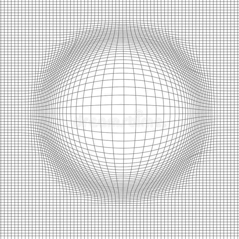 Abstrakt vektorlandskapbakgrund Cyberspaceraster vektorillustration för teknologi 3d arkivfoto