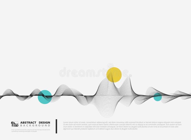 Abstrakt vektorlinje minsta garnering för garneringdesign Illustrationvektor eps10 vektor illustrationer