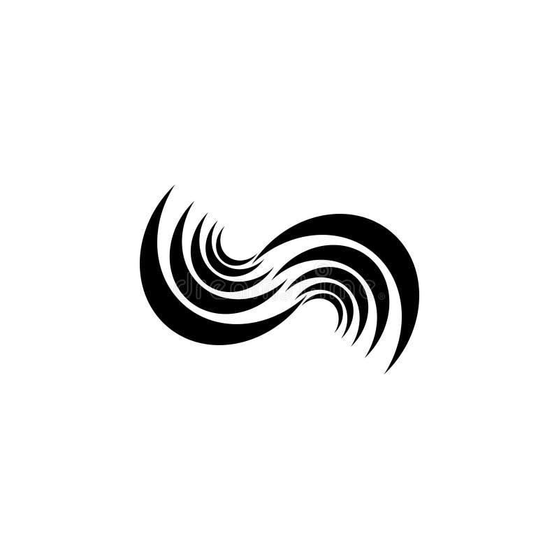 Abstrakt vektorlogodesign för branscher, folk etc. också vektor för coreldrawillustration stock illustrationer