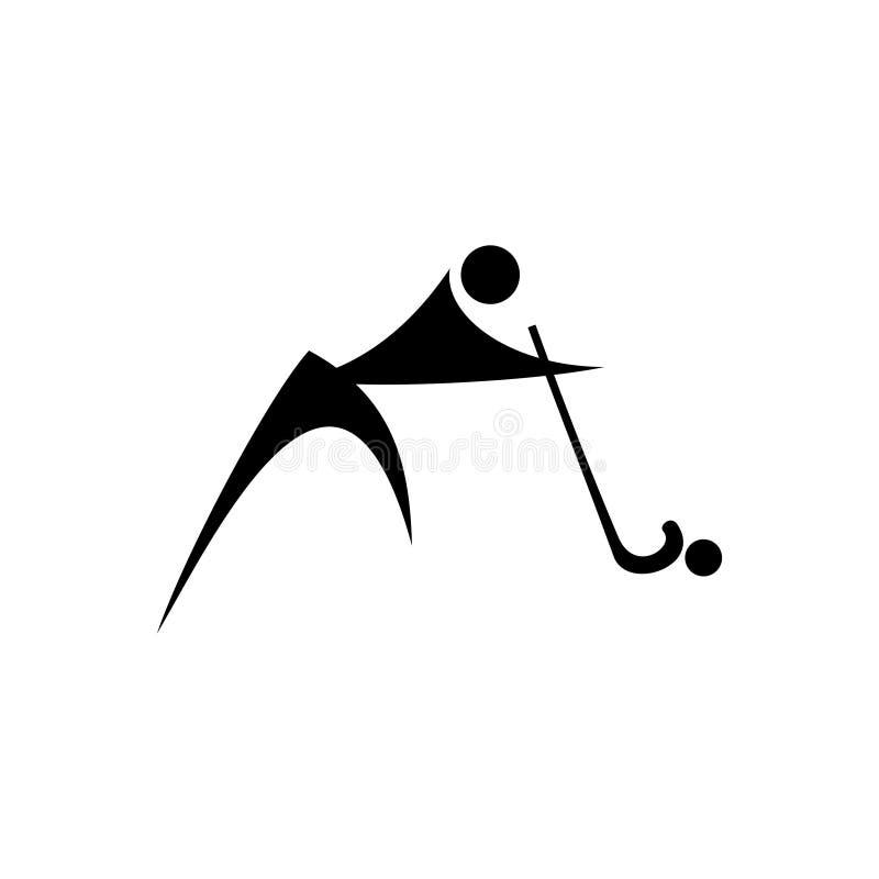 Abstrakt vektorlogodesign för sportar, folk etc. också vektor för coreldrawillustration stock illustrationer