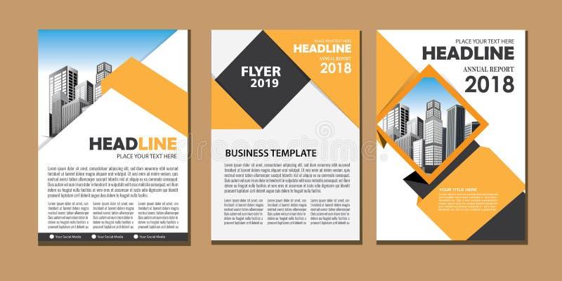 Abstrakt vektormall för affär Broschyrdesign, modern orientering för räkning, årsrapport, affisch, reklamblad i A4 med den färgri royaltyfri illustrationer