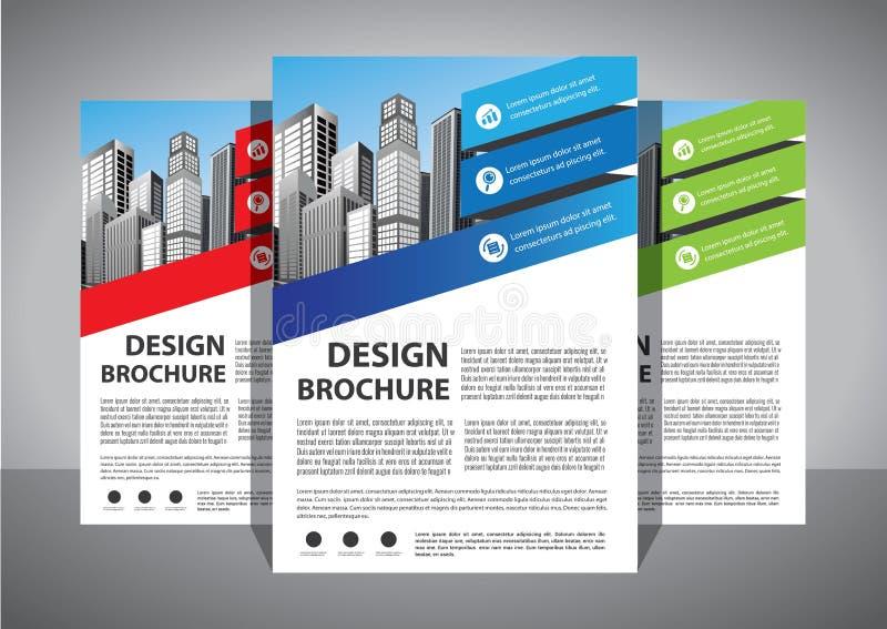 Abstrakt vektormall för affär Broschyrdesign, modern orientering för räkning, årsrapport, affisch, reklamblad i A4 med den färgri vektor illustrationer