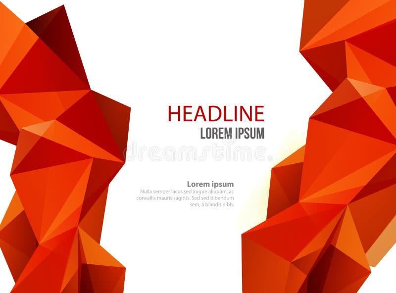 Abstrakt vektormalldesign, broschyr, webbplatser, broschyr, med färgrika geometriska triangulära bakgrunder royaltyfri illustrationer