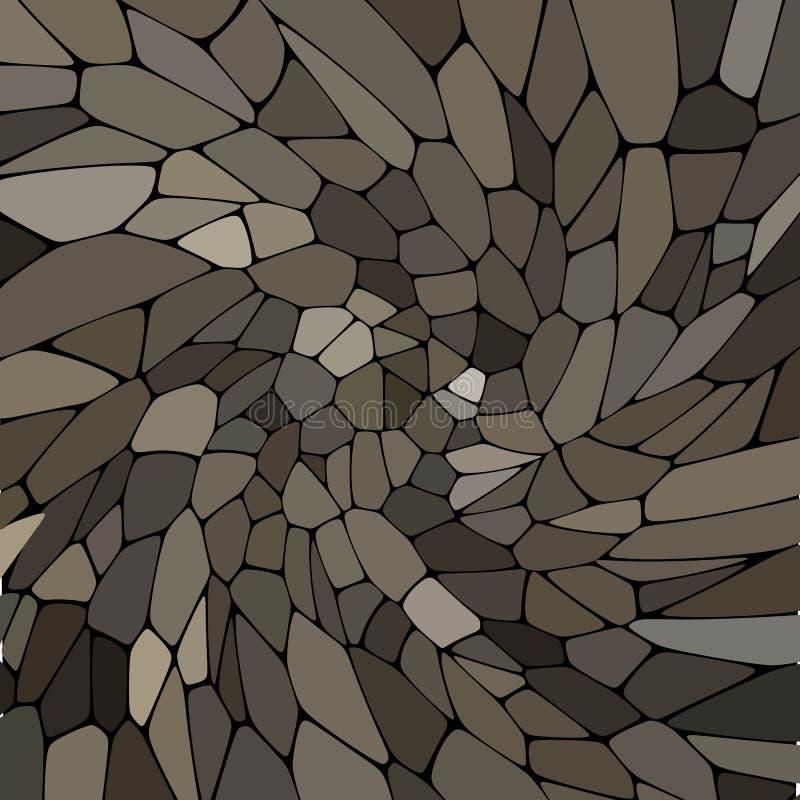 Abstrakt vektormodell av stenar mosaik Grå färgpalett - Vektorgrafik royaltyfri illustrationer
