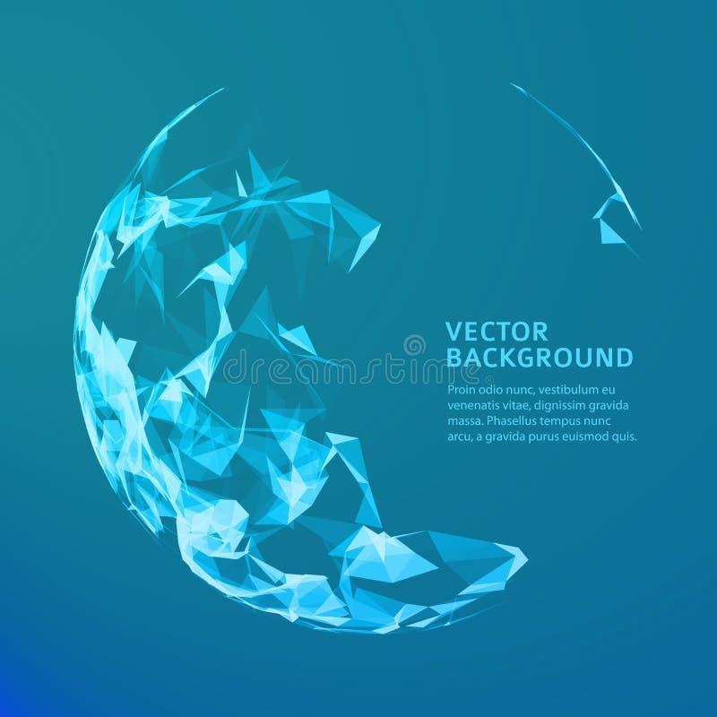 Abstrakt vektormusiksfär Futuristisk technobakgrund Bakgrund för affärspresentation abstrakt blue royaltyfri illustrationer