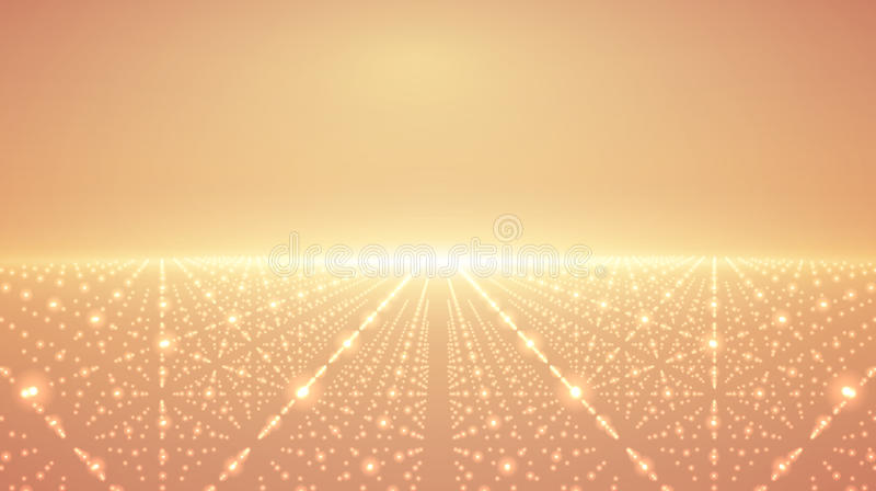 Abstrakt vektoroändlighetsbakgrund Glödande stjärnor med illusion av djup och perspektivet vektor illustrationer