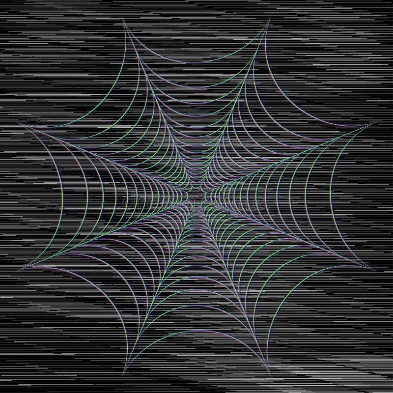 Abstrakt vektorspindelnät på mörk bakgrund Futuristiskt stilkort vektor illustrationer