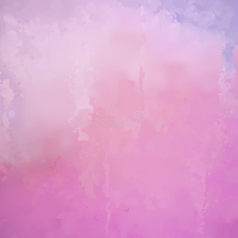 Abstrakt vektorvattenfärgbakgrund royaltyfri illustrationer