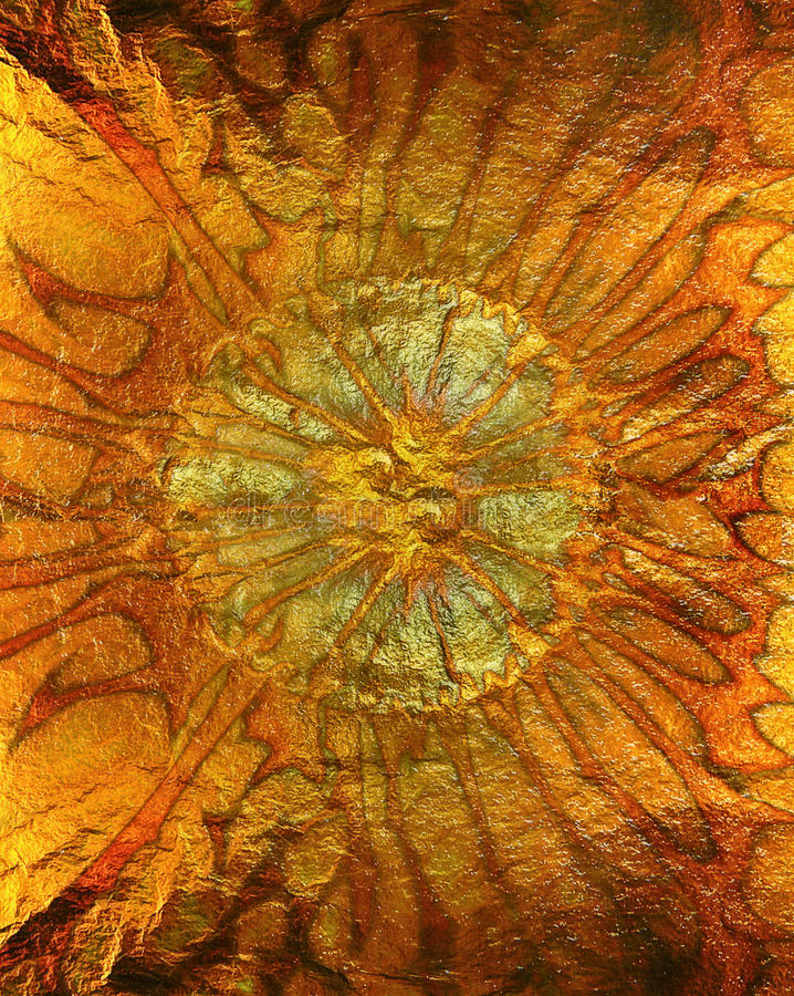 Abstrakt vibrerande orange guld- textur, bakgrund royaltyfri bild
