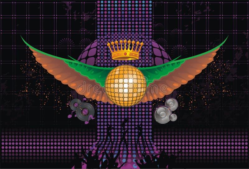 abstrakt vingar för bakgrundsklubbamusik stock illustrationer