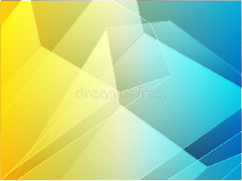 abstrakt vinkelformig kristall stock illustrationer