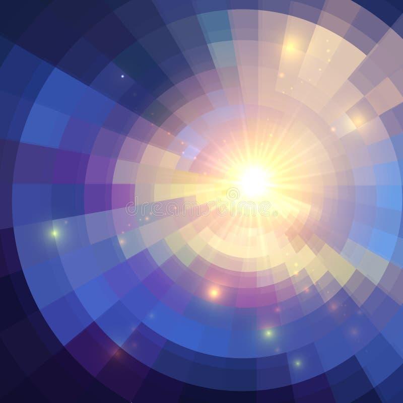 Abstrakt violett glänsande cirkeltunnelbakgrund vektor illustrationer