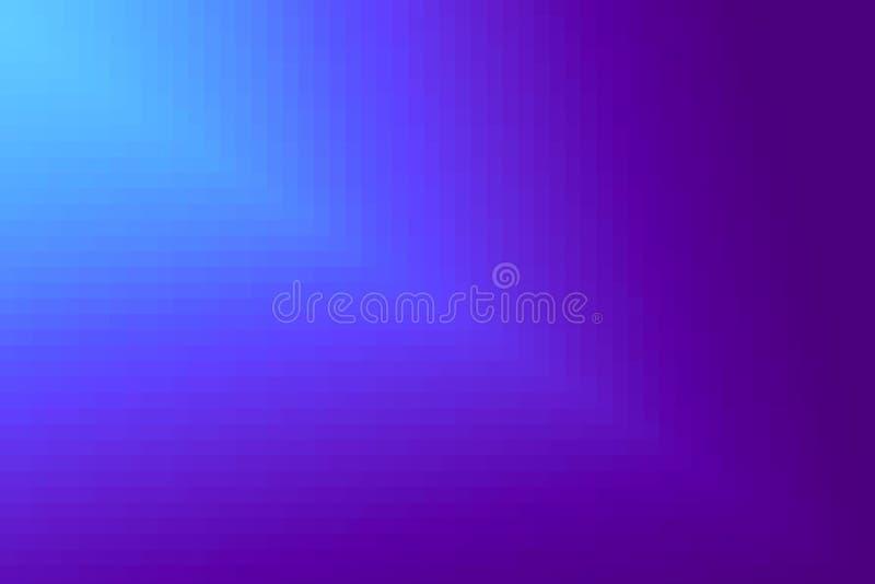 Abstrakt violett och cyan diagonal lutningbakgrund Textur med fyrkantiga kvarter för PIXEL Mosaisk modell royaltyfri illustrationer