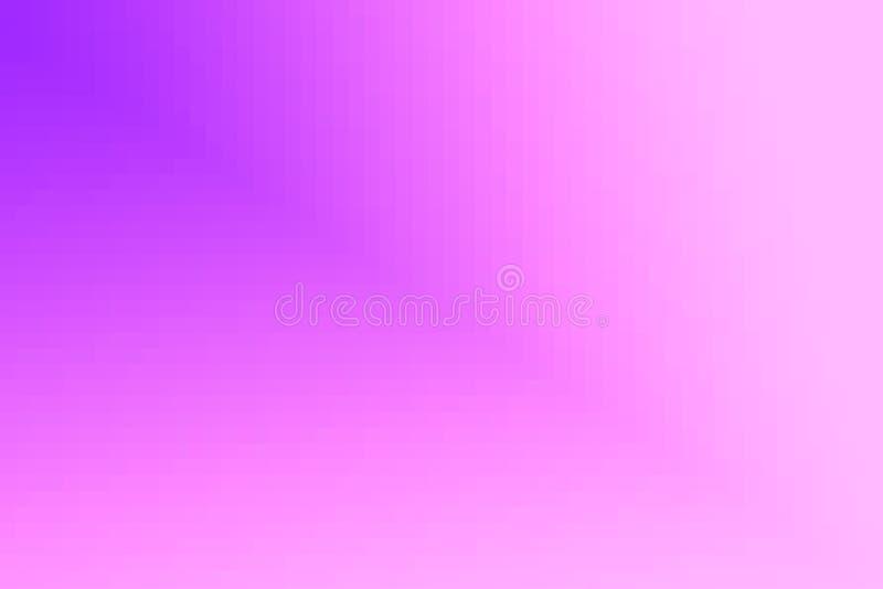 Abstrakt violett och rosa diagonal lutningbakgrund Textur med fyrkantiga kvarter för PIXEL Mosaisk modell royaltyfri illustrationer