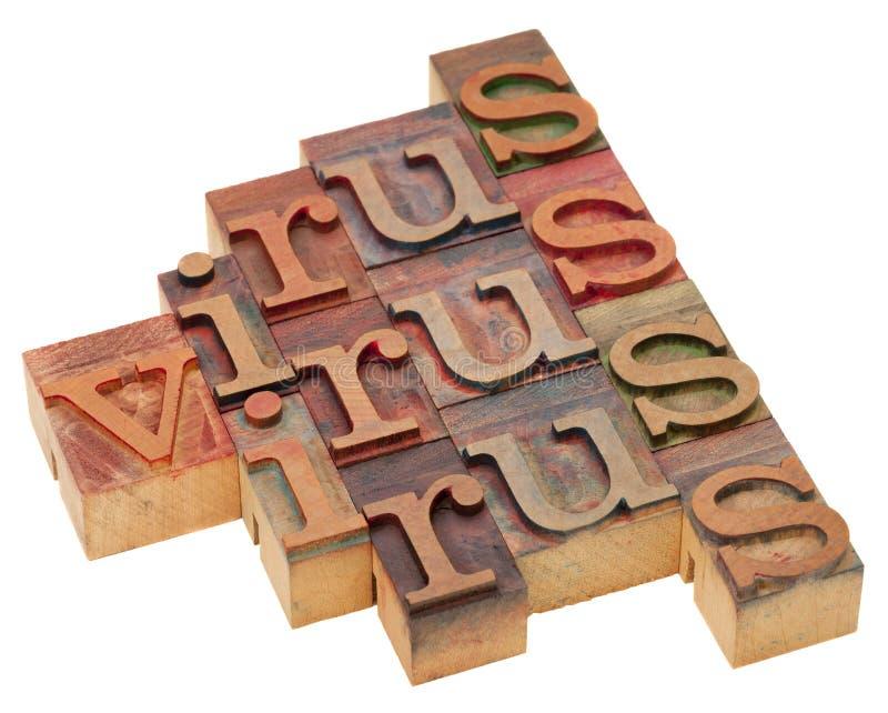 abstrakt virusord arkivbild