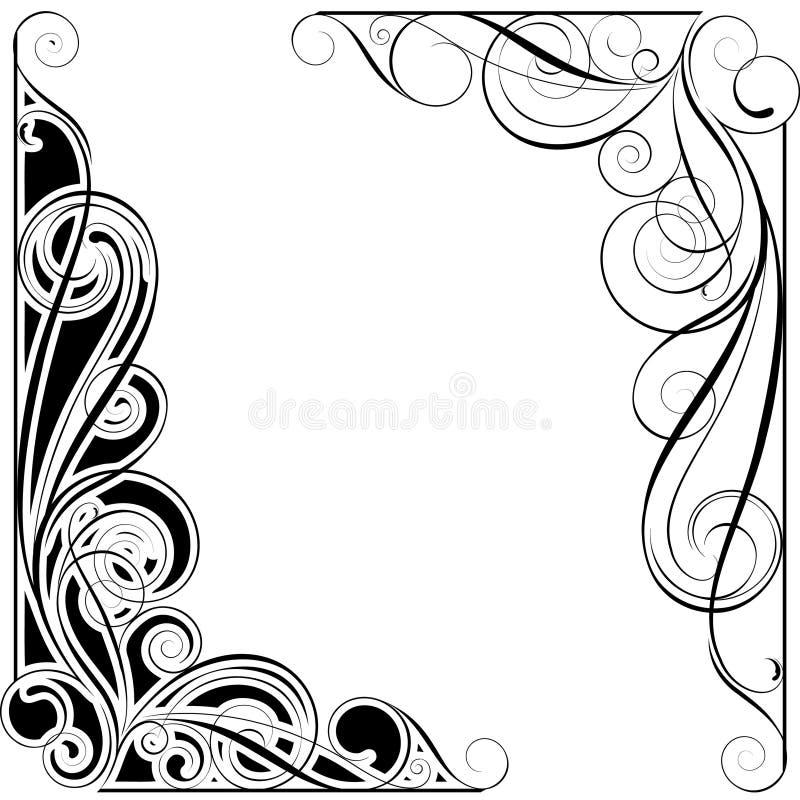 Abstrakt virvelhörn vektor illustrationer