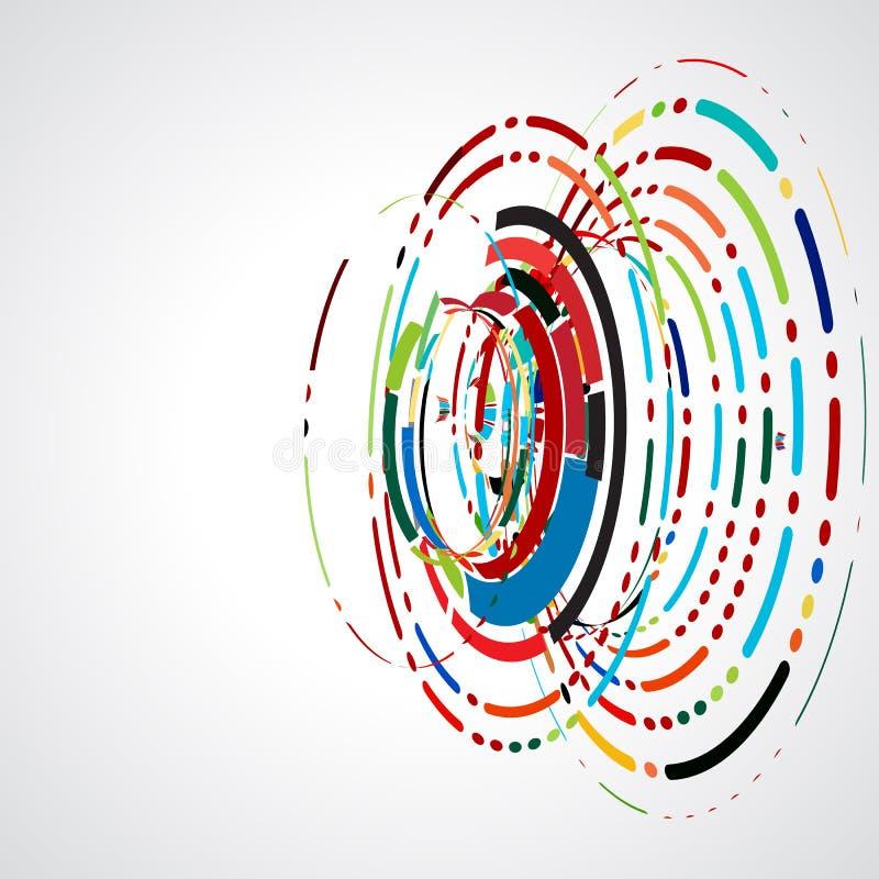Abstrakt virvellinje futuristisk grafisk mall för företags tech och affärsidé royaltyfri illustrationer