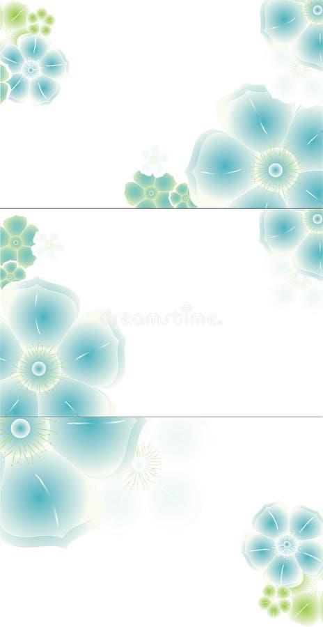 abstrakt visit för affärskortdesign vektor illustrationer