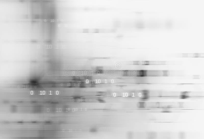Abstrakt vit bakgrund för digital teknologi