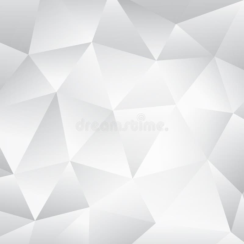 Abstrakt vit bakgrund för geometriska texturer vektor illustrationer