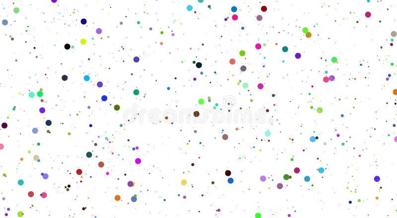 Abstrakt vit bakgrund f?r vektor med f?rgbubblor stora och sm? f?rgbubblor f?r blandning royaltyfri illustrationer