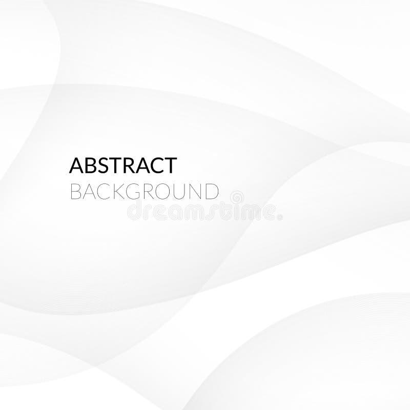 Abstrakt vit bakgrund med släta linjer royaltyfri illustrationer