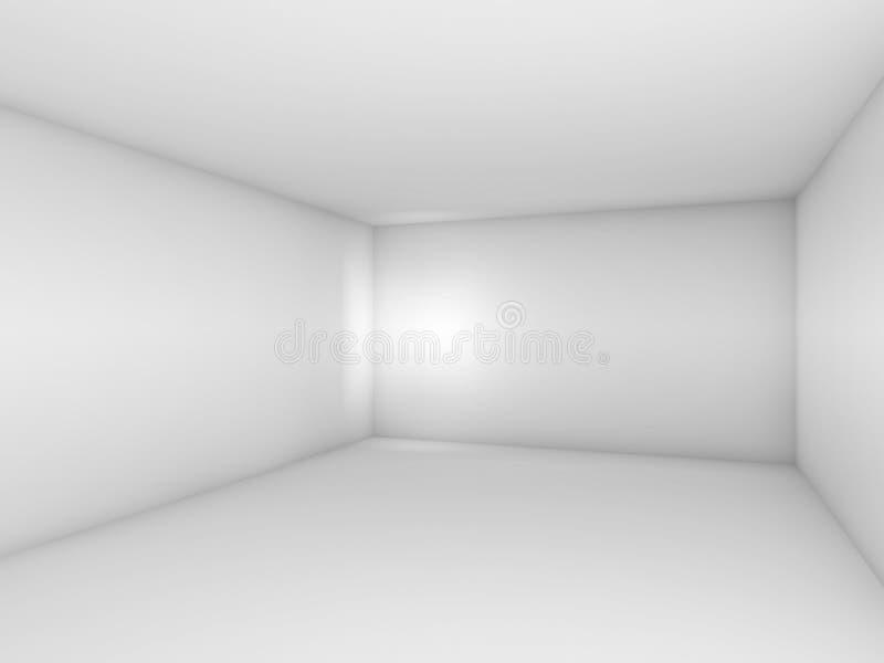 Abstrakt vit 3d tömmer ruminre med fläckljus vektor illustrationer