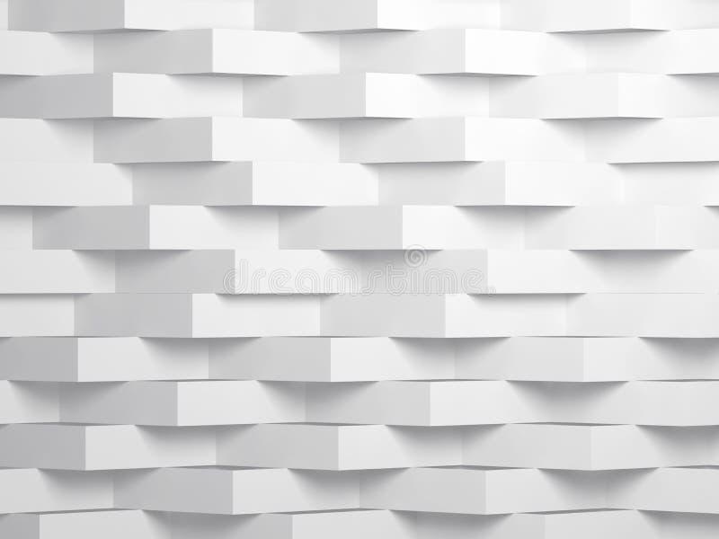 Abstrakt vit digital konst för bakgrund 3d vektor illustrationer