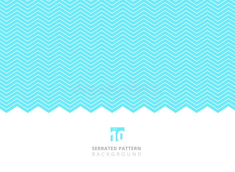 Abstrakt vit färg göra ett hack i linjer modell på blå bakgrund w royaltyfri illustrationer