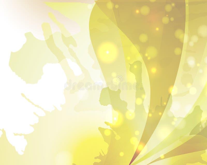 Abstrakt vit för guling för glod för bakgrundstexturfärg royaltyfri illustrationer